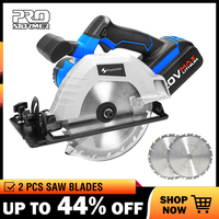 PROSTORMER 20V Circular Electric Saw 2 PCS Saw Blades 165mm Blade for Wood 4000mAh Circular Saw Woodworking Tools Wood