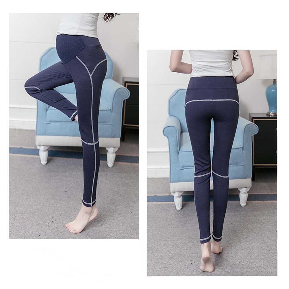 ceb022f507405 ... Lady Maternity Solid Black Sport Yoga Leggings Pants Clothes for Pregnant  Women Trousers Modal Elastic Clothing ...