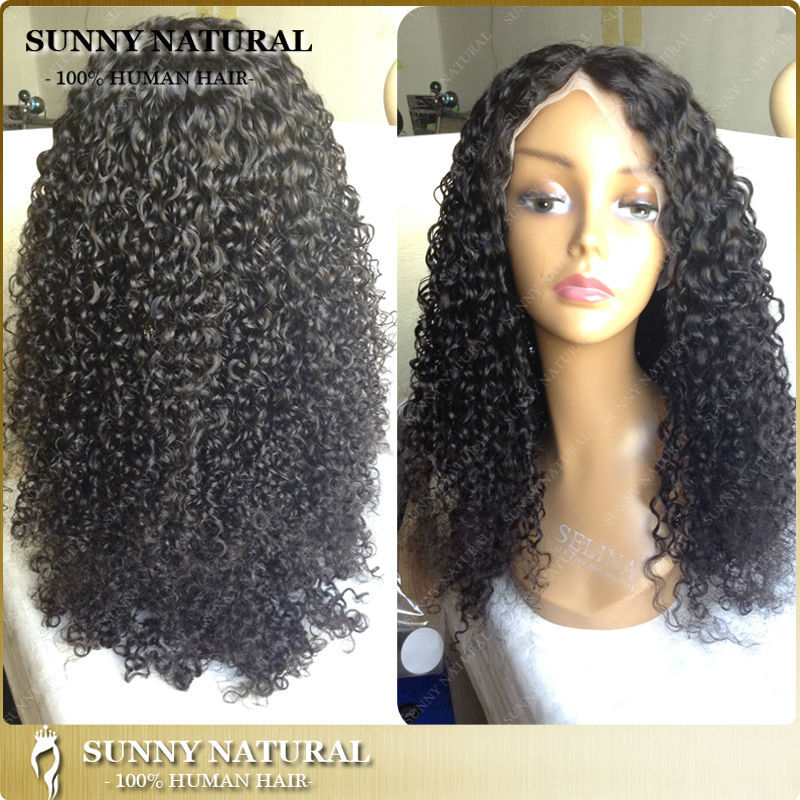 Glueless Full Lace Wig Tight Curly Human Hair Wig 180