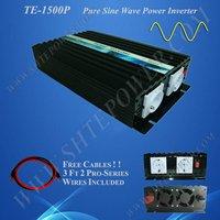 Off Grid Solar Power Inverter, 1500w 24vdc to 120vac inverter, Pure Sine Wave Power Invertor