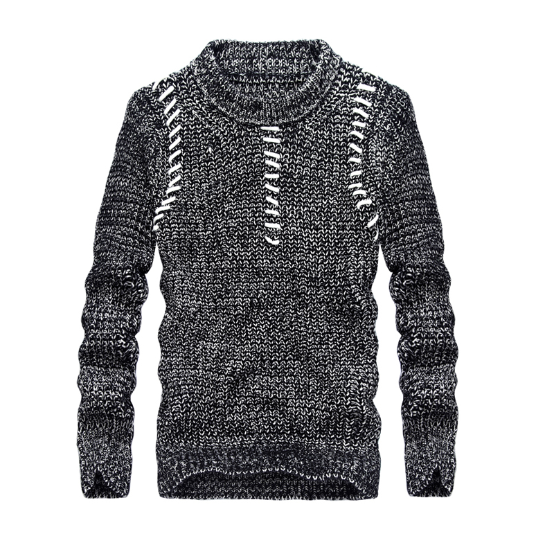 Autumn New Mens Pullovers Sweaters Long Sleeve Round Collar Casual Clothes For Men Striped Sweater Warm Knitwear Sweaters