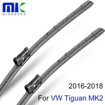 Mikkuppa Dianteiro E Traseiro MK2 Braço Limpador E Lâminas Para VW Tiguan 2016 2017 2018 Brisas Borracha Natural Car Auto acessórios