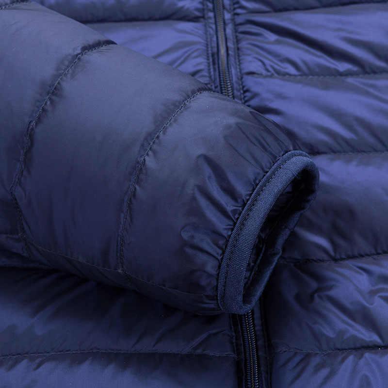 2019 Весна Новый 50% белый утиный пуховик мужской зимний теплый Сверхлегкий мужской на открытом воздухе Повседневный пуховик пальто мужской Молодежный приталенный 3XL