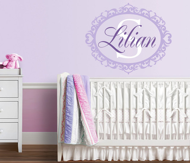 Personalize Monogram Wall Stickers Art Decal Mural Adesivo Wallpaper Removable Girl Nursery Wall Decals Home Decor & Personalize Monogram Wall Stickers Art Decal Mural Adesivo Wallpaper ...