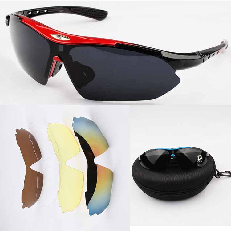 1 set 5 Lens Men Glasses Outdoor Sports Bicycle Glasses Bike Sunglasses 0089 Goggles Eyewear