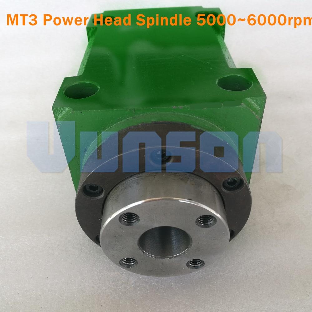 Morse 3 MT3 MS3 Taper Chuck Max 5000 6000Rpm1500W 1 5KW 2hp Power Head Unit Machine