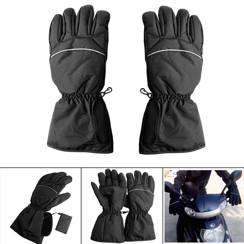 Motorcycle Outdoor Hunting Electric Warm Waterproof Heated Gloves font b Battery b font Powered For Motorcycle