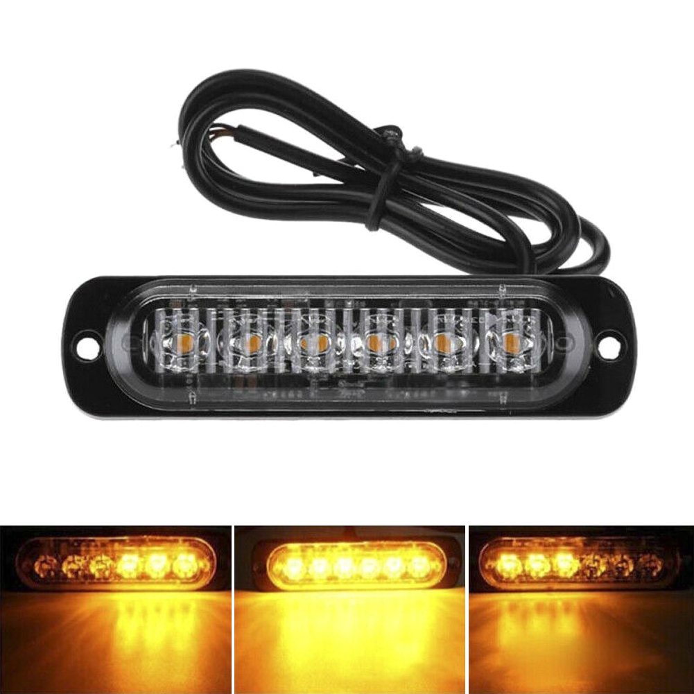 1Pcs Car Truck LEDs Strobe Dash Emergency Flashing Warning Lamp Breakdown Yellow Light
