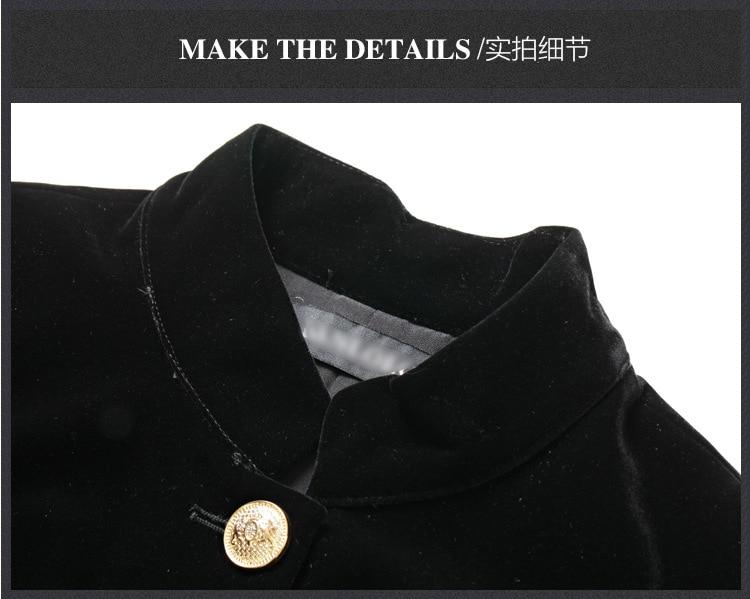 De Européenne Métal Black Dames Mince Robe En Mode Haute D'hiver Nouveau Station Bouton Et W1628 Marque Taille Soie Velours Célèbre Automne QerECBWxdo