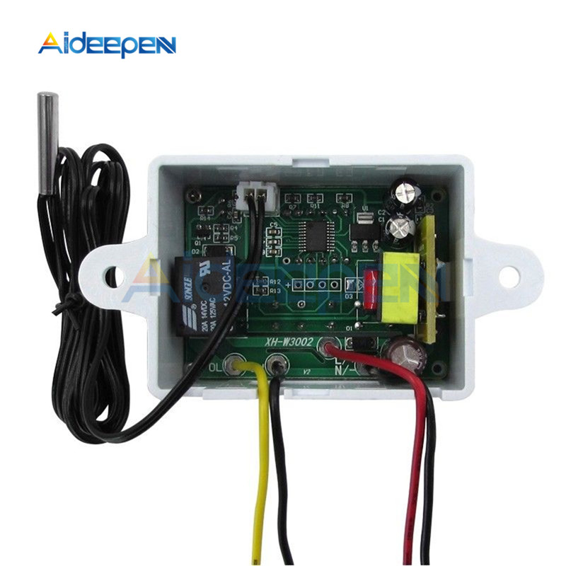 XH W3001 W3002 12V 24V 220V LED Digital Control Thermostat Temperature Microcomputer Switch Thermometer Thermoregulator Sensor XH-W3001 W3002 12V 24V 220V LED Digital Control Thermostat Temperature Microcomputer Switch Thermometer Thermoregulator Sensor