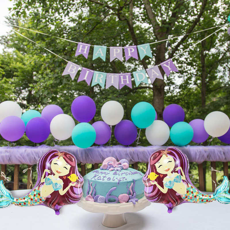 The Little Mermaid Theme Birthday Party Baloons Girls