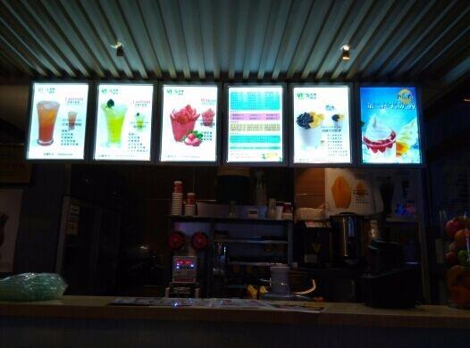 6pcs Restaurant Indoor Led Illuminated Menu Boards Light