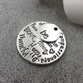 "Antique Silver Plating Word Charm""kind wise compassionate true thankful happy"" and small charm"" be"" 20sets/lot"
