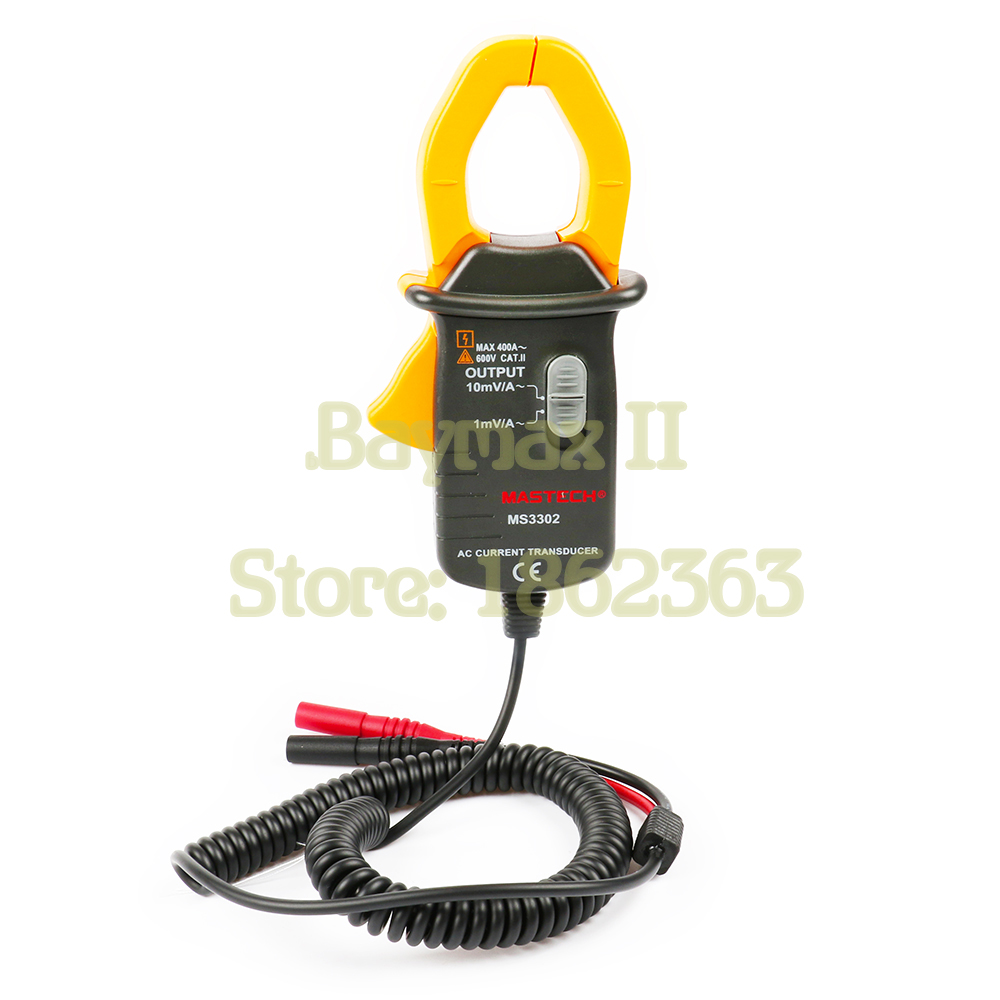 MASTECH MS3302 AC Current 0.1A - 400A Clamp Meter Transducer True RMS mas tech pro mini mastech ms3302 ac current transducer 0 1a 400a clamp meter test hot sales