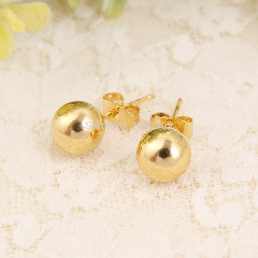 2pairs Stylish Cute Scrub Ball Small Stud Earrings For Women Copper Gold Jewelry S Accessories Gifts In From On