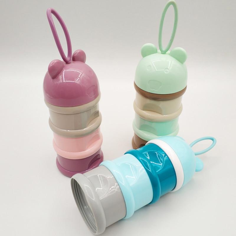 Aufbewahrung Von Säuglingsmilchmischungen 3 Schicht Nette Tragbare Baby Lebensmittel Lagerung Box Ätherisches Getreide Toddle Kinder Cartoon Milch Pulver Boxen