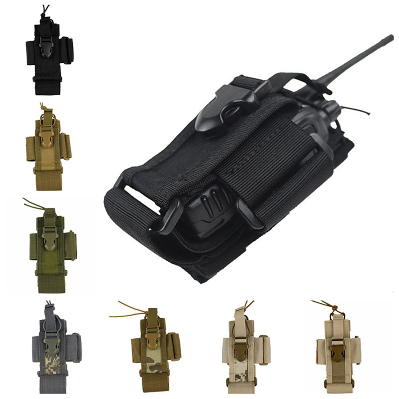 CQC Molle Tactical Airsoft Radio Pouch Mag Bag Phone Case Holder Military Shooting Hunting Walkie Talkie Waist Pack Bags