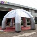 Персонализированные 6X3.5 метров Серебряный надувной шатер паука/надувной шатер купола паука/надувной шатер партии игрушки