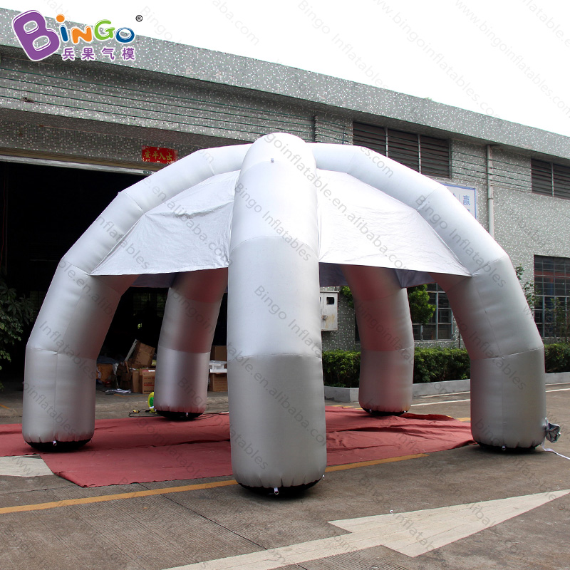 Personalized 6x3.5 Meters Silver Inflatable Spider Tent / Inflatable Spider Dome Tent / Inflatable Party Tent Toys An Enriches And Nutrient For The Liver And Kidney