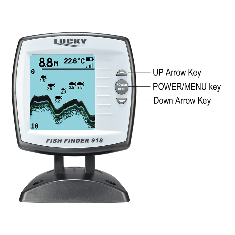 Image 5 - LUCKY FF918 180S Wired Fishfinder 540ft/180m Depth Sounder Fish Detector Monitor echo sounder for fishing from a boat-in Fish Finders from Sports & Entertainment