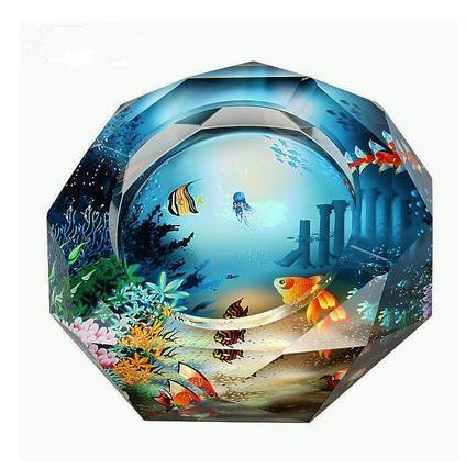 Visokokvalitetna kristalna pepeljara, kućni dekor, kućni i uredski - Kućanski robe