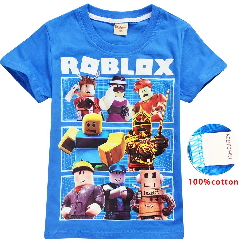 2020 Roblox Game T Shirts Boys Girl Clothing Kids Summer 3d Funny