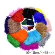 1Meter 10-15cm Natural ostrich feather Trim ribbon feathers for DIY wedding crafts plumes decoration
