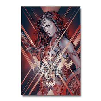 Плакат Гобелен Материал Шелк Чудо-Женщина