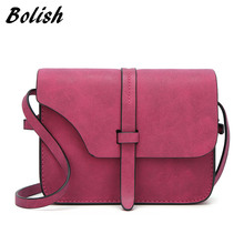 Bolish 2017 Fashion Women's Handbag Bag Small Crossbody Bags Vintage Spring Women Shoulder Bag Nubuck Leather Women Bag