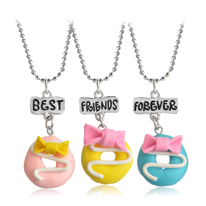 ᗑ3pcs Set Beautiful Cute Best Friend 【 Forever Forever