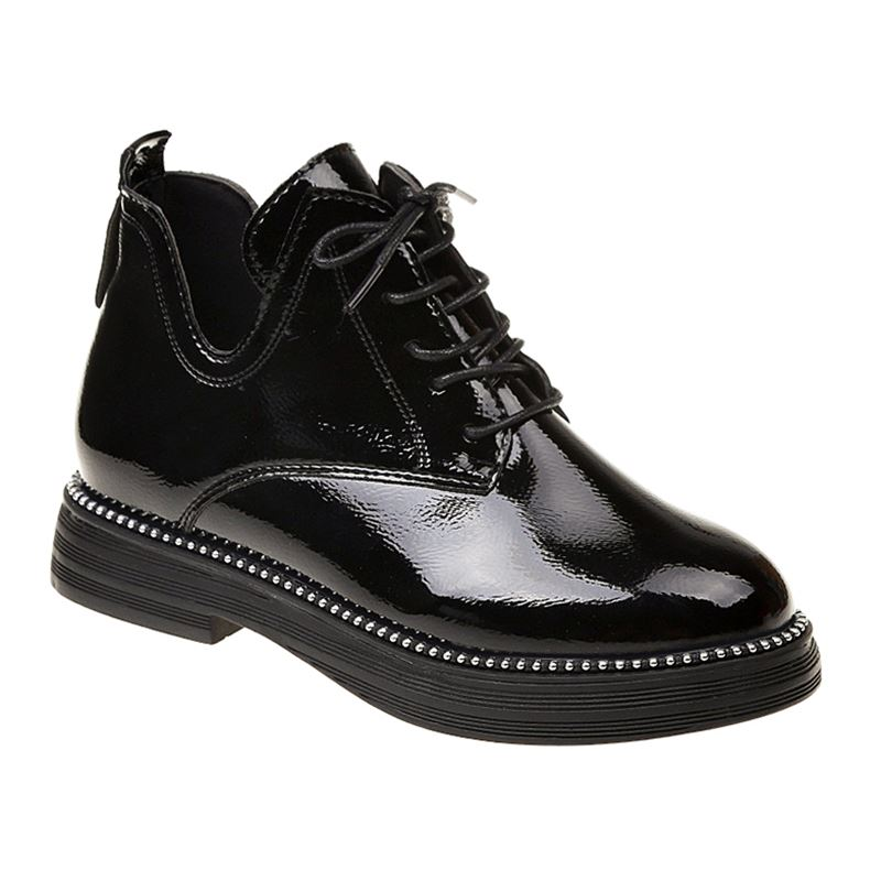 New Spring Winter Women Boots Quality Lace up European Ladies Shoes PU Boots Martin Ankle Boots for Women Shoes
