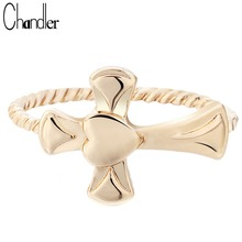 Chandler Twist Jesus Cross Rings For Women Religious Ethic Jewelry Turkish Finger Bagues Wedding Band Fahsion Luxury Accessaries