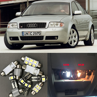 21x Canbus Auto White LED Light Bulb Interior Kit For 1998-2004 Audi A6 C5 Map Dome Glove Box License Plate Lamp Replace Halogen