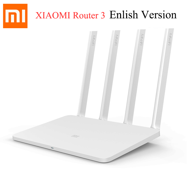 Galleria fotografica <font><b>Xiaomi</b></font> <font><b>Mi</b></font> WiFi Router 3 English Version 4 Antennas Smart Router 802.11ac b/g/n WIFI Dual Band 2.4G/5G 1167Mbps Supports APP