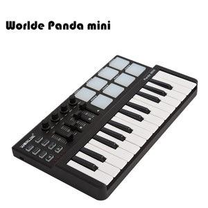 Image 4 - Worlde Panda mini Portable Mini 25 Key USB Keyboard and Drum Pad MIDI Controller