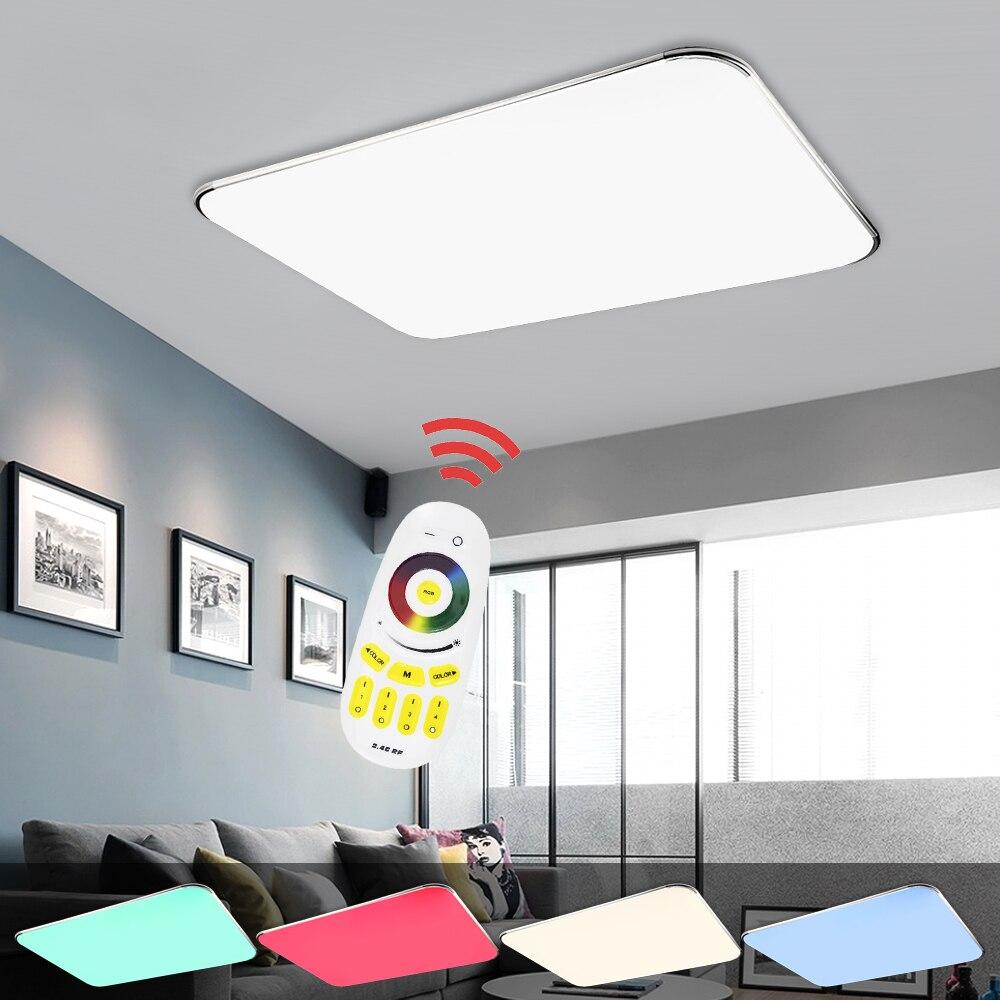 Dimmable Couleur led plafonnier plafond moderne à leds Lumière rgb 24 W/36 W/48 W/64 W/96 W salon chambre cuisine télécommande