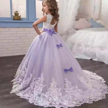 619f9123e Vestidos de tutú para niñas con flores preciosas JAYLAY para boda 1-10 años  vestido de flores ...