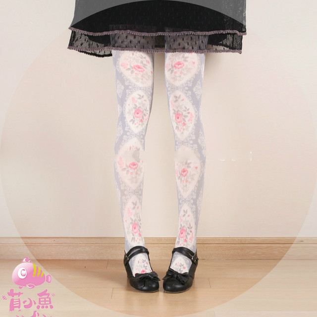 Princess sweet lolita pantyhose Japanese  elegant girl  Rose Princess Velvet tights bk05