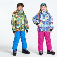 Children's Ski Jacket Snow Insulated Suit Windproof Waterproof Snowsuits With Pants Fashion Ski Suit