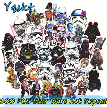 Hot 100 Stks Star Wars Stickers voor Laptop Skateboard Motorfiets Interieur Auto Styling Vinyl Decals Doodle Cool DIY Sticker