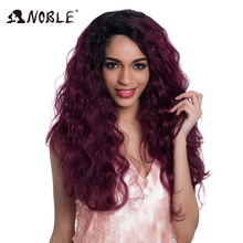 Noble Body Curl Hair 16-20 inch 7Pieces / lot 240g Synthetic Hair Bundles With Closure Mellemdel Lace Front Closure