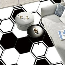 10 Pcs/set Hexagonal DIY Non-Slip Floor Stickers Waterproof PVC Self Adhesive Stickers Art Tile Floor Wall Decal Sticker(China)