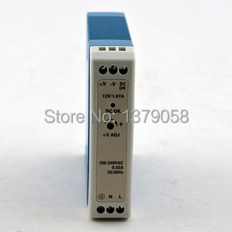 12V 1.67A 15W Small volume din rail single output switching power supply  MDR-20-5 mdr 40 12 single output micro volume 12v ac dc 40w din rail 42w switching model power supply 12v