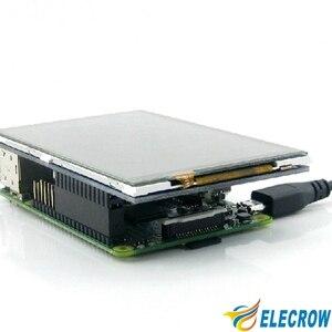 Image 4 - 4 дюймовый дисплей Elecrow Raspberry Pi с сенсорным экраном, ЖК TFT HD 480X320, Интерфейсный монитор Spi для Raspberry Pi A + B +/2B 3B