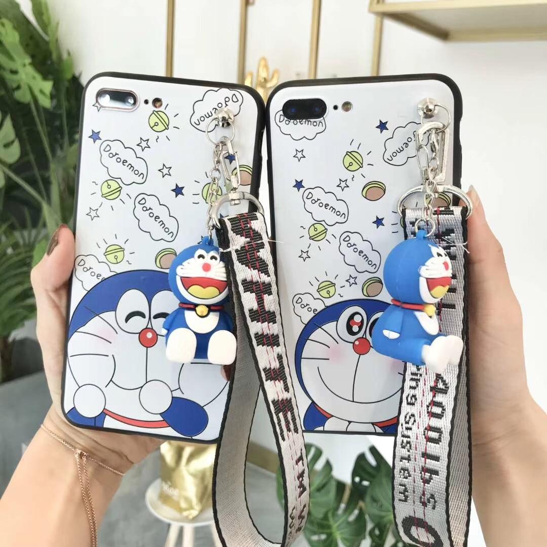 Lovely Doraemon Dorayaki Cartoon Case for Oppo R9 R9s R11 R11s F1 F3 Plus R15 Dream Mirror A73 A79 A59 A1 F5 A83 F1s A57 A39