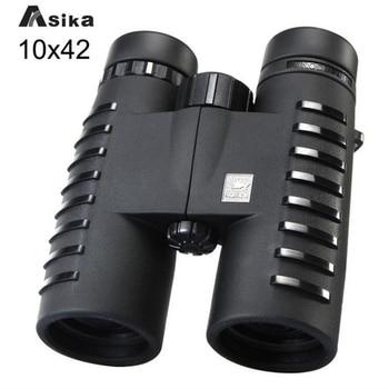 Asika Military HD 10x42 Binoculars Professional Waterproof Bak4 Prism Telescope High Quality Lll Night Vision For Hunting binoculars 10x25 bak4 prism high ble hunting telescope pocket scope for sports