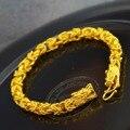 Выдалбливают витой браслет-цепочка желтого золота гальваническим двойной дракон дизайн браслет послал бойфренд подарок