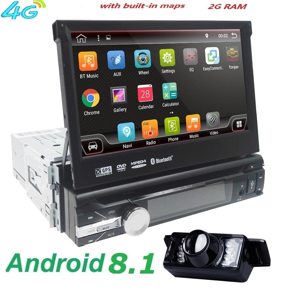 7 universel Unique 1 din Android 8.1 Quad Core lecteur DVD de Voiture GPS Navi AutoRadio Pour BMW 2 gb + 16 gb Wifi BT 4g volant RDS