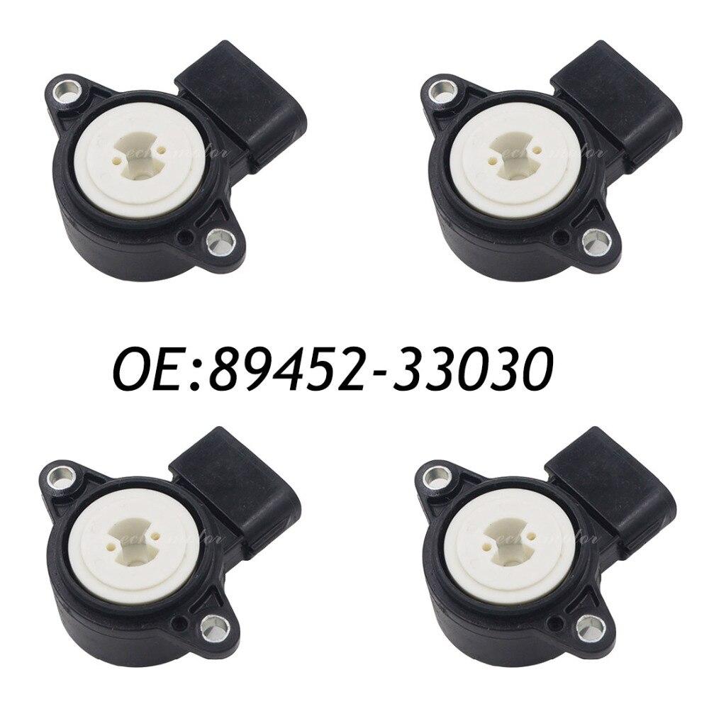 New 4pcs 89452-33030 Throttle Position Sensor For Lexus ES300 RX300 Toyota Avalon Camry RAV4 Sienna oxygen sensor 89467 41040 for toyota avalon sienna solara camry lexus es300 lambda sensor o2 sensor