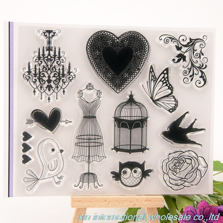 2pcs/set embossing folders clear stamps card making ACRYLIC VINTAGE  FOR PHOTO SCRAPBOOKING stamp clear stamps for scrapbooking clear acrylic a3a4a5a6 sign display paper card label advertising holders horizontal t stands by magnet sucked on desktop 2pcs